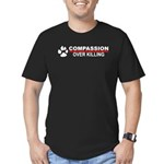 Compassion Over Killing Fitted T-Shirt