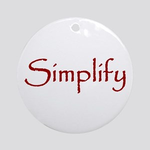 Simplify Ornament (Round)