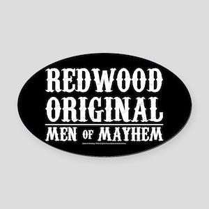 SOA Men of Mayhem Oval Car Magnet