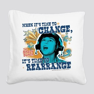 The Brady Bunch: Time To Chan Square Canvas Pillow