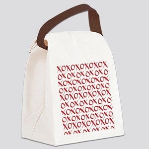 xoxo Red Canvas Lunch Bag