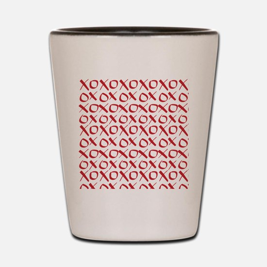 xoxo Red Shot Glass