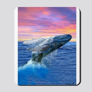 Humpback Whale Breaching at Sunset Mousepad