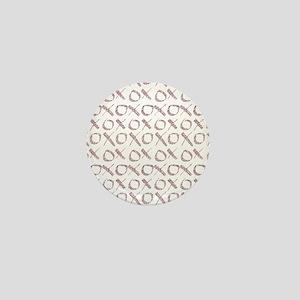 xoxo Rose Glitter Mini Button