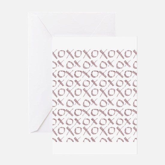 xoxo Rose Glitter Greeting Cards