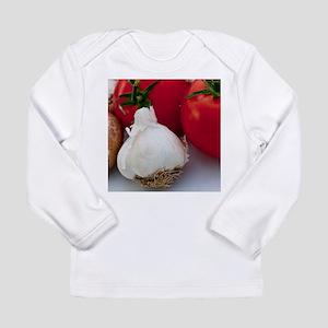 Tomato and Garlic Long Sleeve Infant T-Shirt