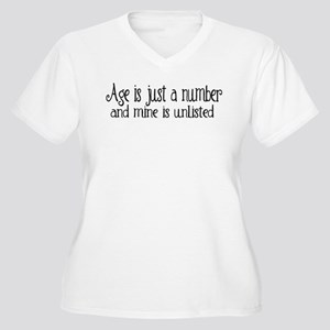 Age is Just a Number Women's Plus Size V-Neck T-Sh