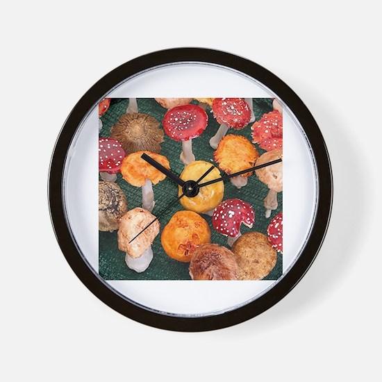 Unique Fungi Wall Clock