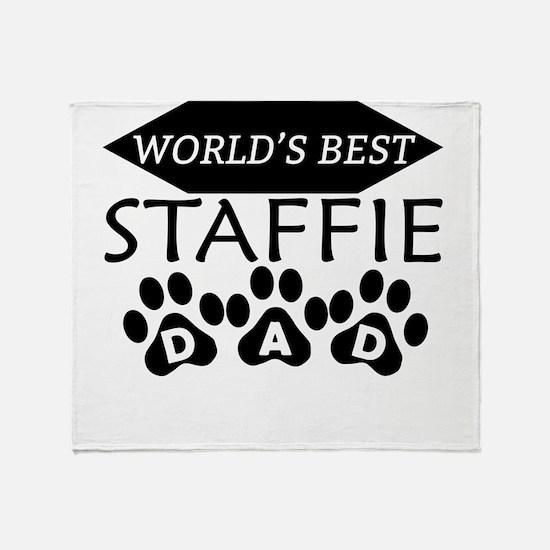World's Best Staffie Dad Throw Blanket