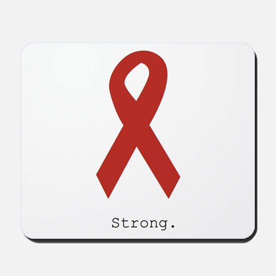 Red Ribbon: Strong. Mousepad