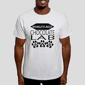 World's Best Chocolate Lab Dad T-Shirt