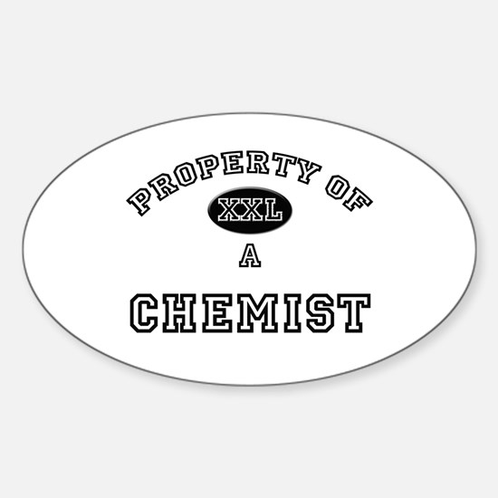 Property of a Chemist Oval Decal