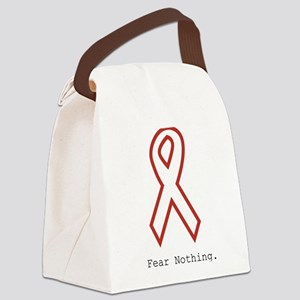 Red Out: Fear Nothing Canvas Lunch Bag