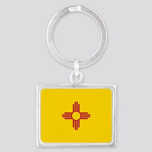 New Mexico State Flag Landscape Keychain