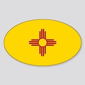 New Mexico State Flag Sticker (Oval)