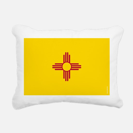 New Mexico State Flag Rectangular Canvas Pillow