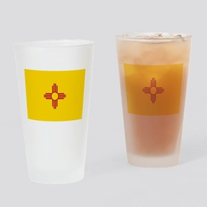 New Mexico State Flag Drinking Glass