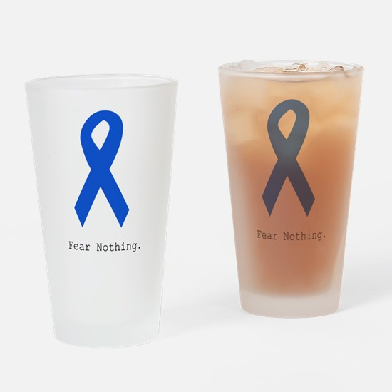 Blue: Fear Nothing Drinking Glass