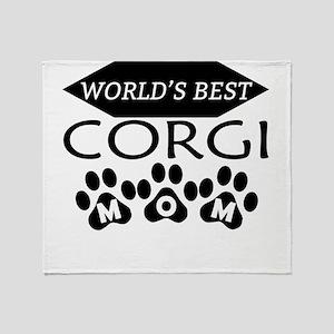World's Best Corgi Mom Throw Blanket