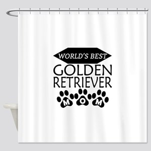 World's Best Golden Retriever Mom Shower Curtain