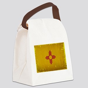 New Mexico State Flag VINTAGE Canvas Lunch Bag