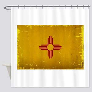 New Mexico State Flag VINTAGE Shower Curtain