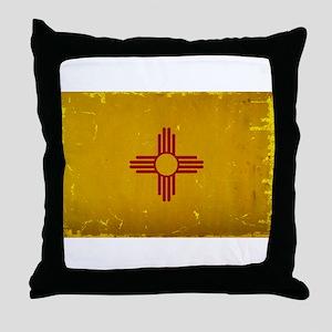 New Mexico State Flag VINTAGE Throw Pillow