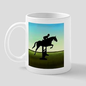 Hunter Jumper Grassy Field Mug