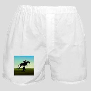 Hunter Jumper Grassy Field Boxer Shorts