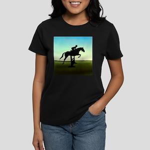 Hunter Jumper Grassy Field Women's Dark T-Shirt
