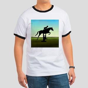 Hunter Jumper Grassy Field Ringer T