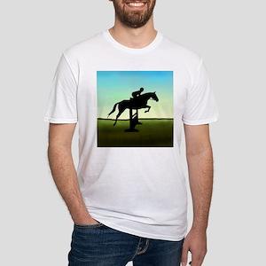 Hunter Jumper Grassy Field Fitted T-Shirt