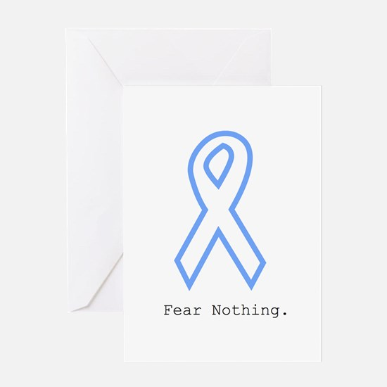 Light Blue: Fear Nothin Greeting Cards