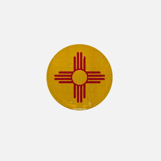 New Mexico State Flag VINTAGE Mini Button