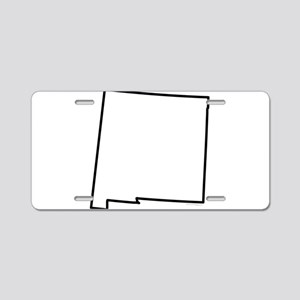 New Mexico State Outline Aluminum License Plate