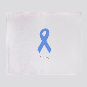 Light Blue: Strong Throw Blanket