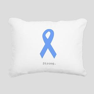 Light Blue: Strong Rectangular Canvas Pillow