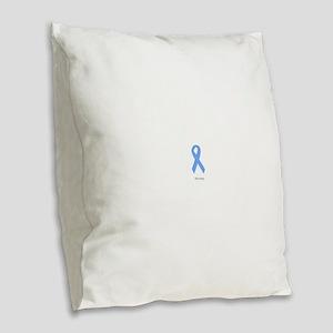 Light Blue: Strong Burlap Throw Pillow