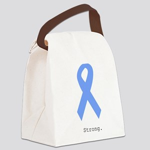 Light Blue: Strong Canvas Lunch Bag