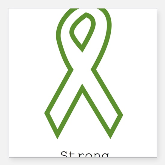 """Green: Strong Square Car Magnet 3"""" x 3"""""""