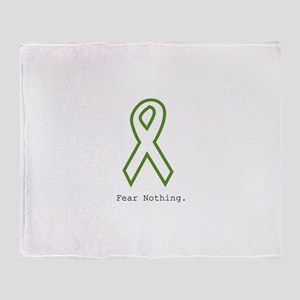 Green: Fear Nothing Throw Blanket
