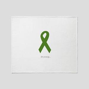 Green Ribbon: Strong Throw Blanket