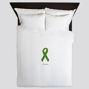 Green Ribbon: Strong Queen Duvet