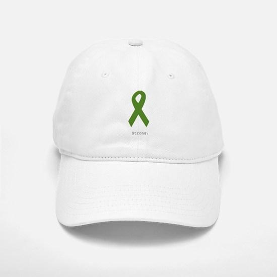 Green Ribbon: Strong Baseball Baseball Cap