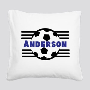 Personalized Soccer Square Canvas Pillow
