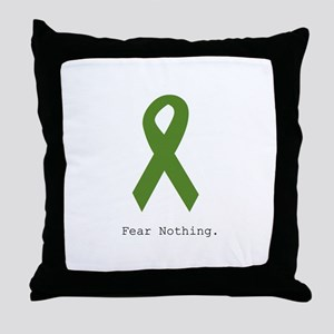Green: Fear Nothing Throw Pillow