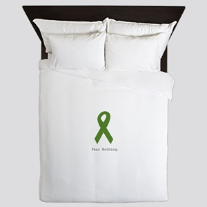Green: Fear Nothing Queen Duvet