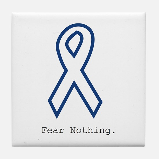 Navy Blue: Fear Nothing Tile Coaster