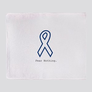 Navy Blue: Fear Nothing Throw Blanket