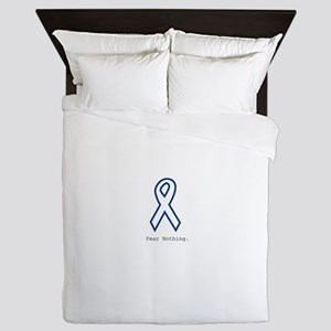 Navy Blue: Fear Nothing Queen Duvet